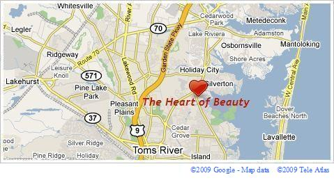 The Heart of Beauty general geographical location map